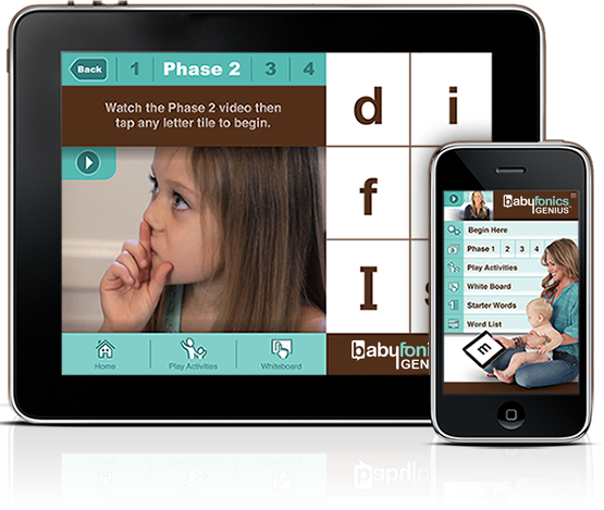 babyfonics Genius mobile device app